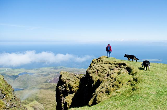 im Quiraing Gebirge auf Skye