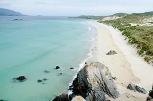 Strand bei Durness, Hunde dürfen hier frei laufen