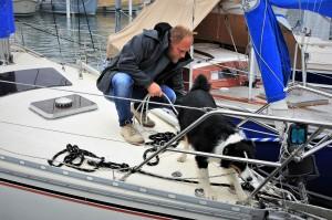 Vor der Anreise mit dem eigenen Boot ist es wichtig, die Hochseetauglichkeit des Vierbeiners zu erproben.