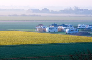 Camping auf dem Bauernhof in Nordholland.